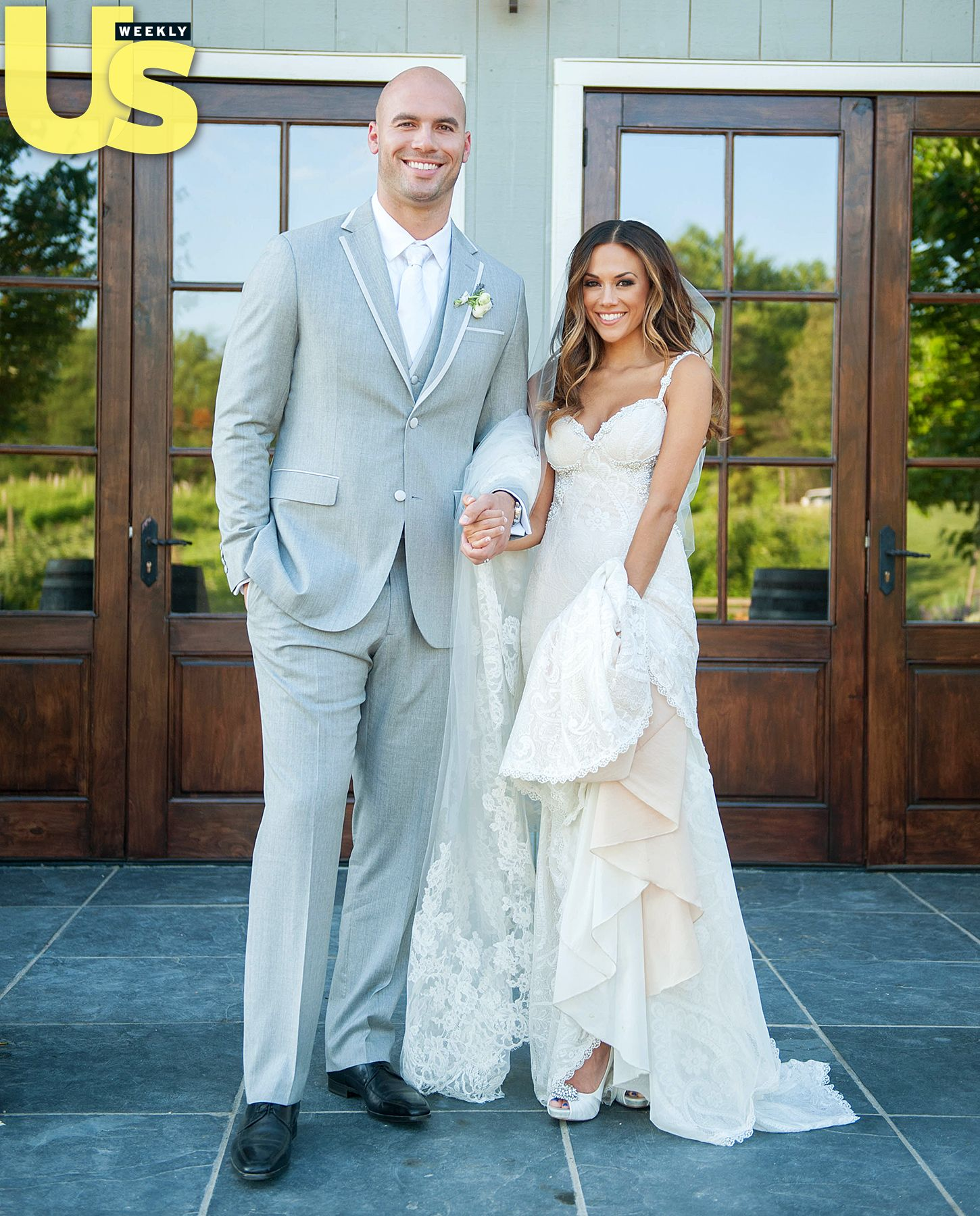 Jana Kramer Weds Michael Caussin Inside Their Picture Perfect Ceremony Watch Their Vows First Kiss An Jana Kramer Wedding A Line Wedding Dress Jana Kramer