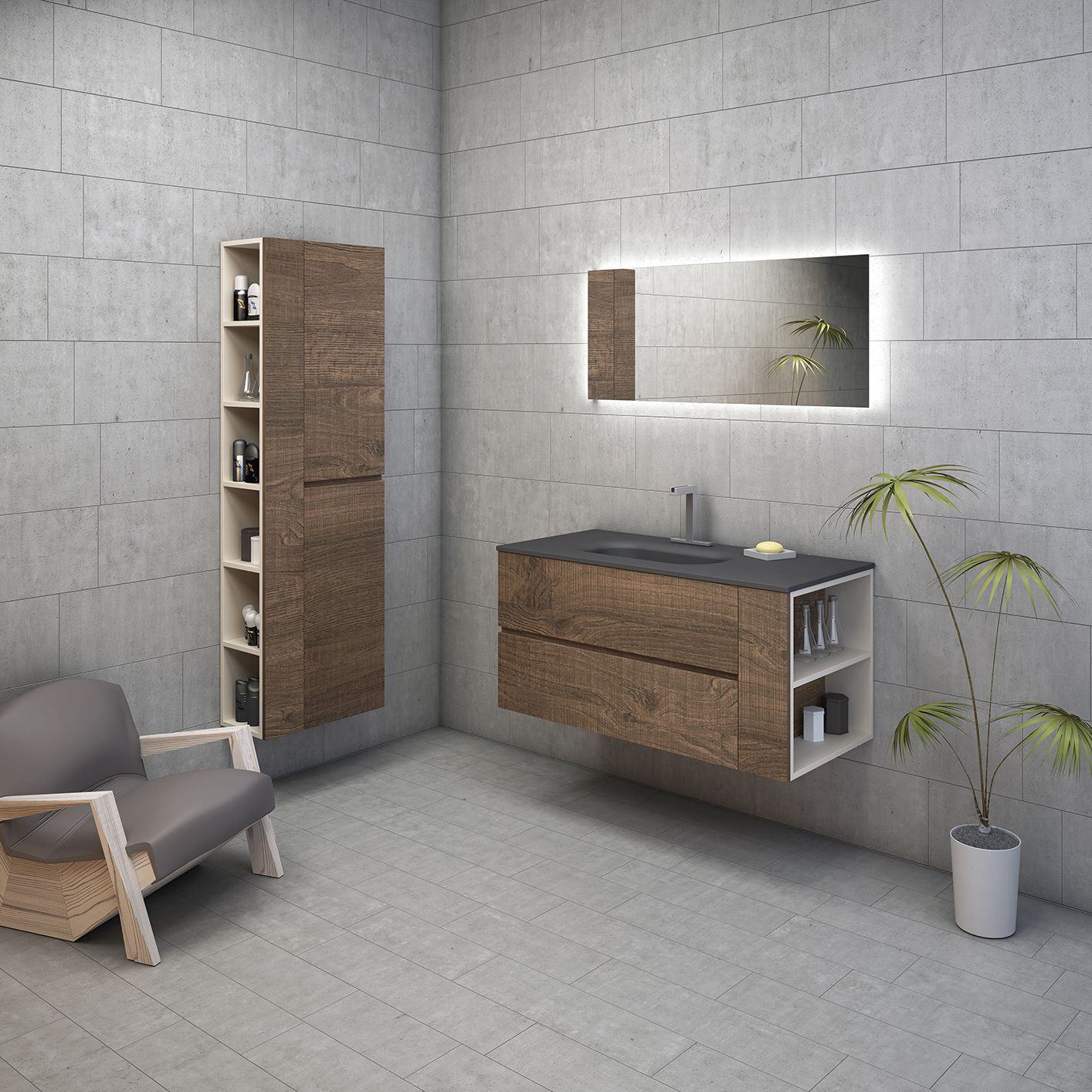Bathroom furniture_Sherwood surface by Cleaf Small