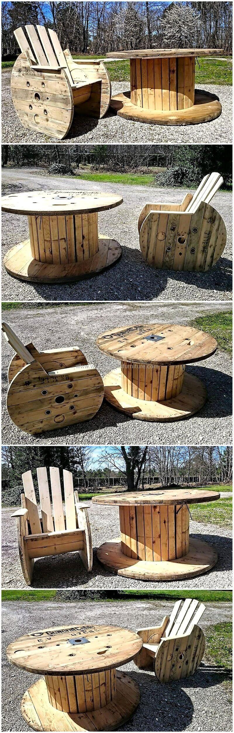 The furniture is not difficult to create when the wood ...