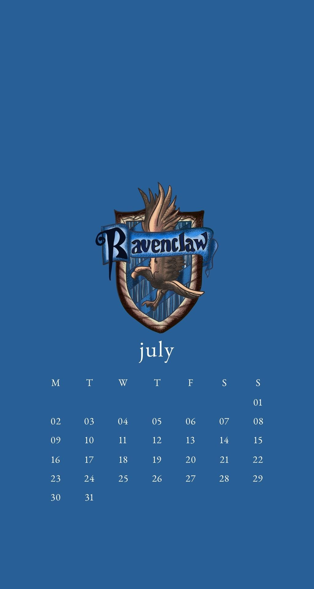 July 2018 Calendar Wallpaper Phone Harry Potter Hogwarts Ravenclaw Harry Potter Ravenclaw Harry Potter Wallpaper Calendar Wallpaper