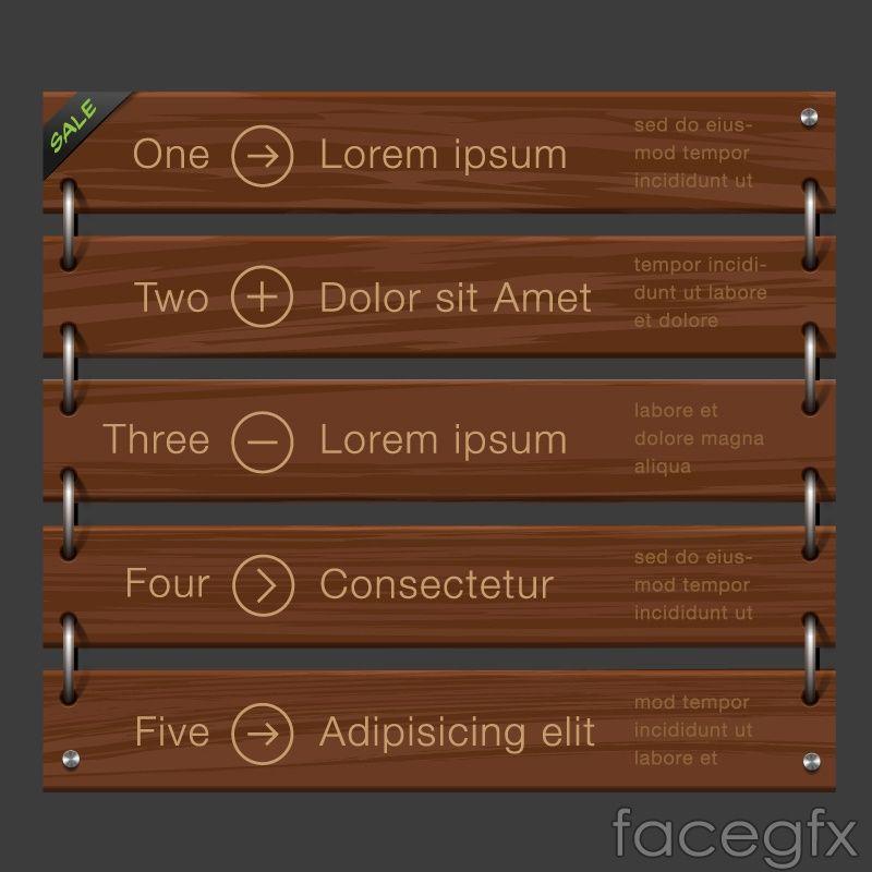 Creative wood tone infographic vector
