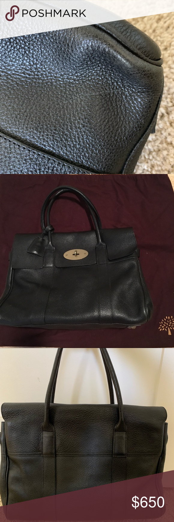 Mulberry Bayswater bag Almost brand new! Gently used and bottoms look totally fine. Inside is also very clean. There is a little scratch on the bottom front but barely can see it. Mulberry Bags Totes #mulberrybag Mulberry Bayswater bag Almost brand new! Gently used and bottoms look totally fine. Inside is also very clean. There is a little scratch on the bottom front but barely can see it. Mulberry Bags Totes #mulberrybag