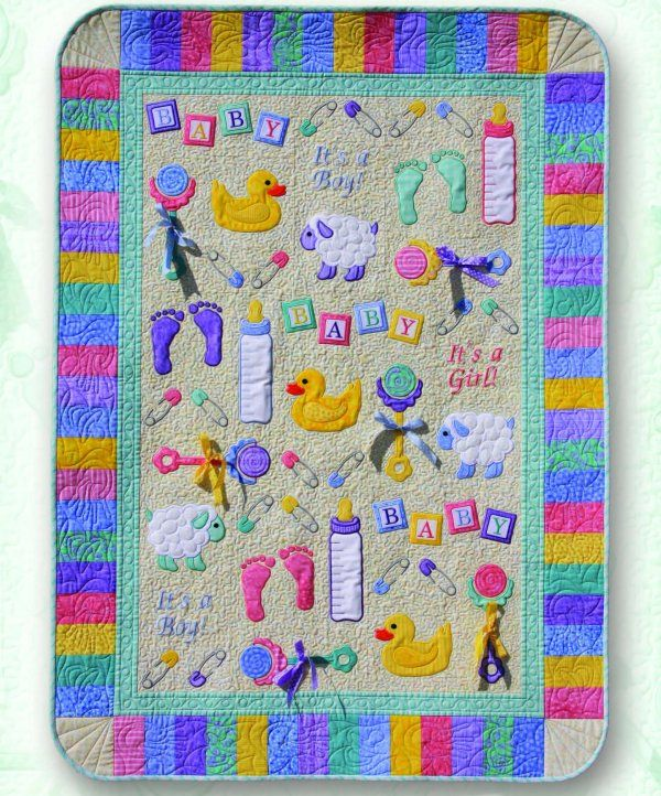it's a boy free machine embroidery designs | adorable sew-in-the ... : baby quilts to embroider - Adamdwight.com