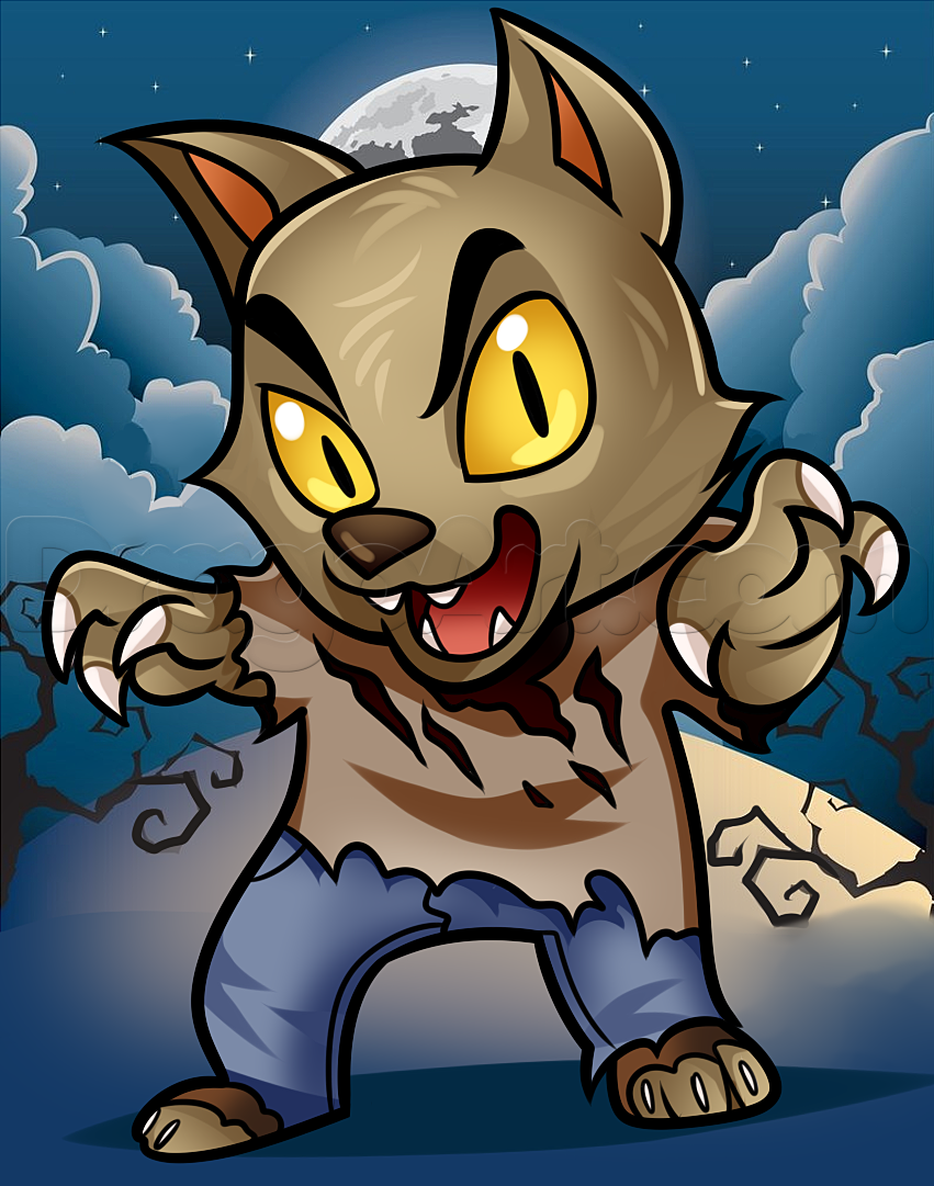 how to draw a cute wolfman | Draw | Pinterest