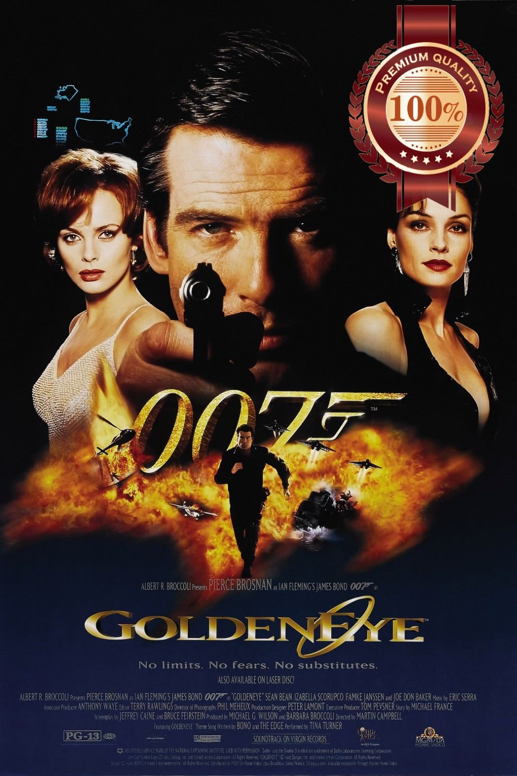 11 95 Aud Goldeneye 007 James Bond Movie Film Original Cinema