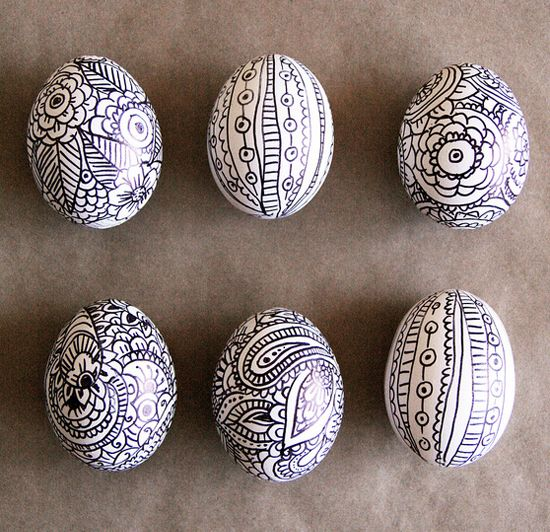 Sharpie Decorated Eggs To Simplify This Project Instead Of