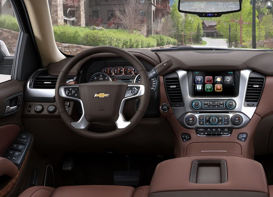 Brown Chevrolet Suburban Traditional SUV 2014 Interior