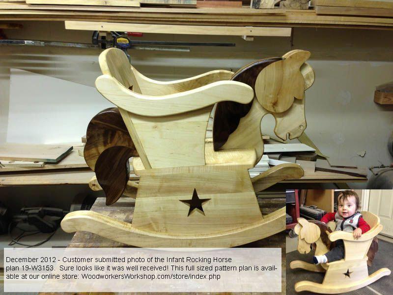 Infant Rocking Horse Chair Woodworking Plan #woodworkingprojectschair