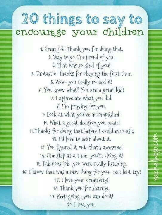 20 Encouraging Quotes To Say To Children