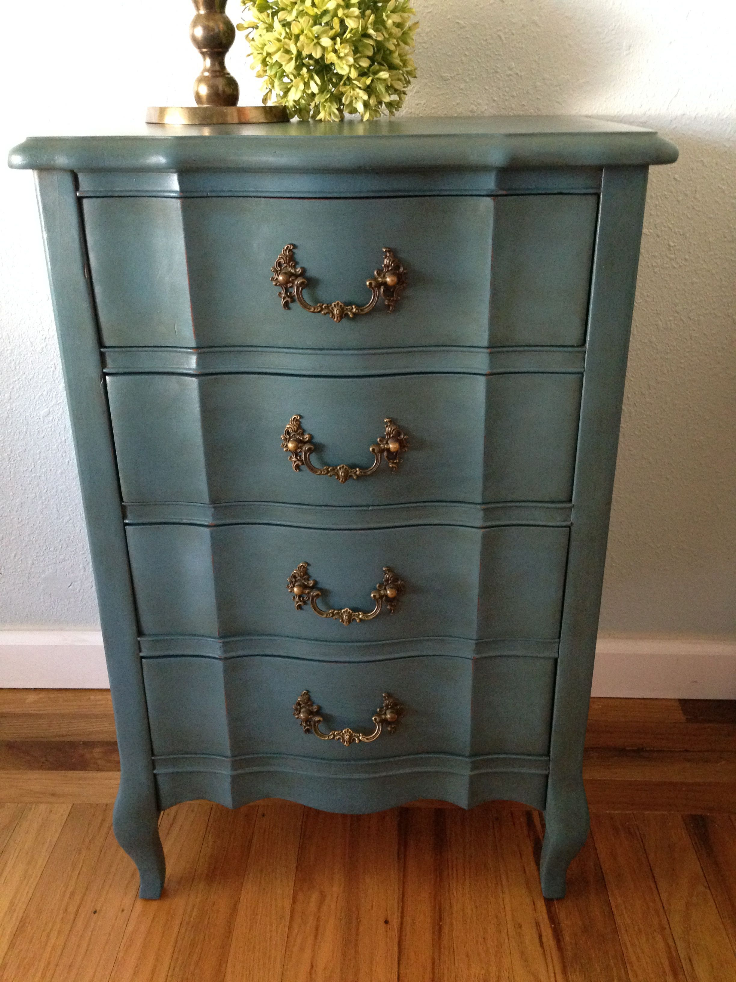 Nightstand in Aubusson Blue Annie Sloan Chalk Paint by ...