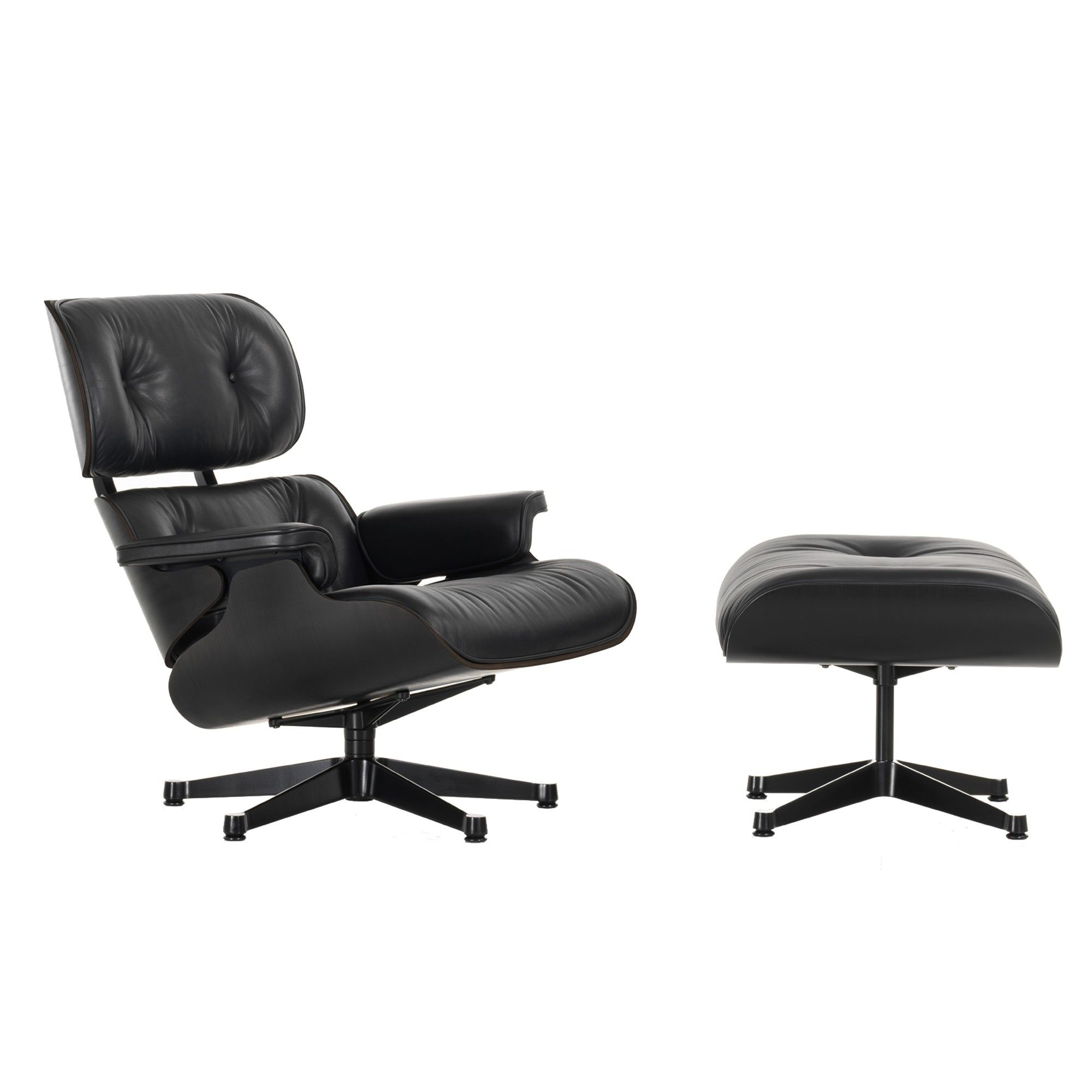 Eames Lounge Chair Ottoman All Black The Lounge Chair Is One Of The Most Famous Designs By Charles And Ray Eames Created Sessel Design Lounge Sessel Eames