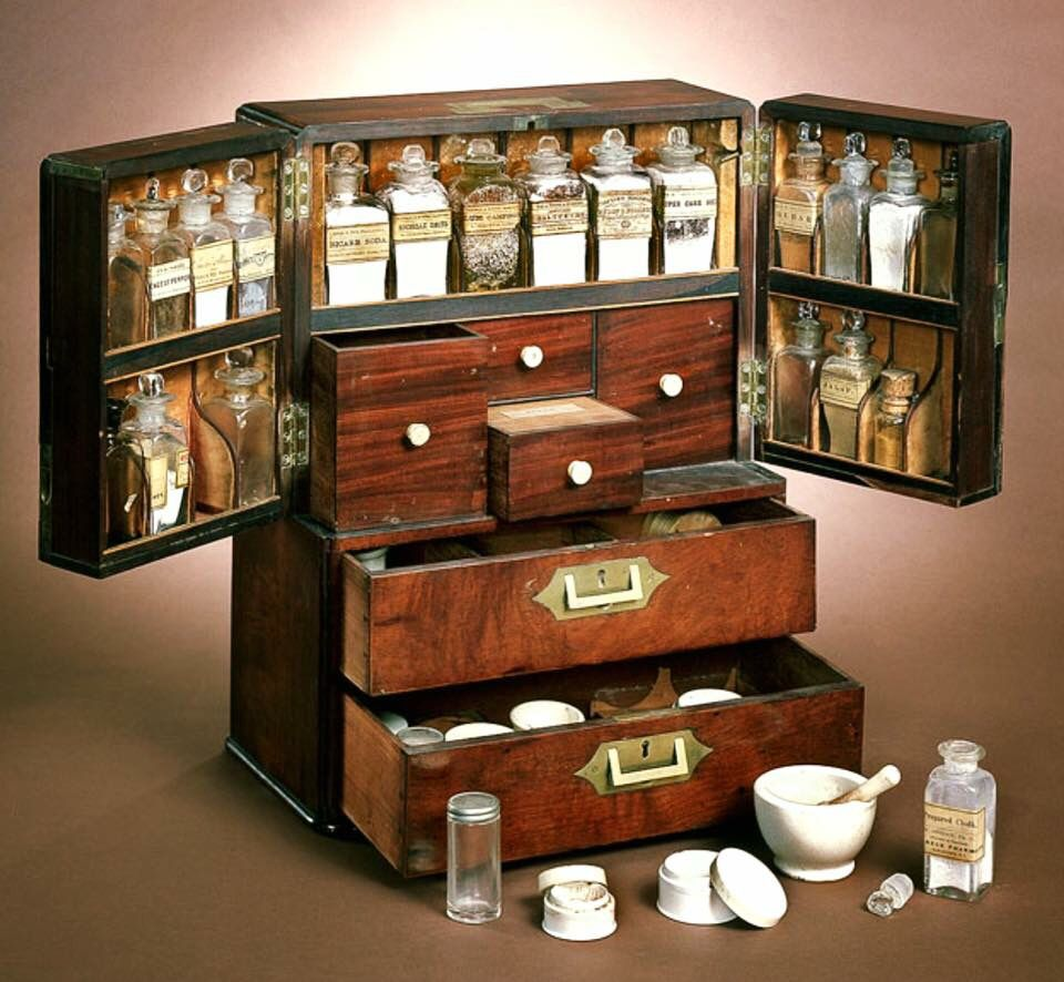 Ships Medical Chest Medicine Chest Miniature Medical Cabinet