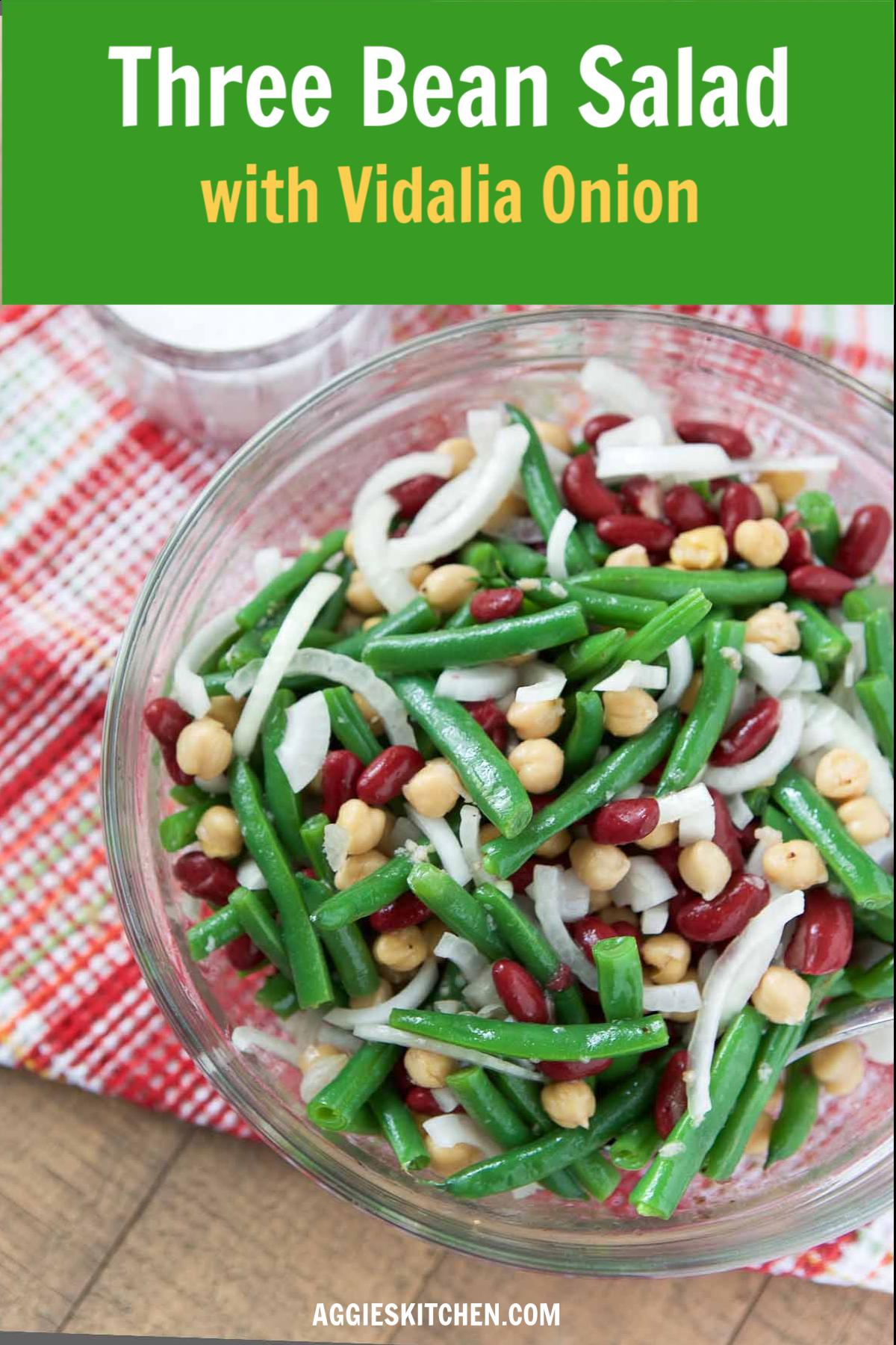 Three Bean Salad With Vidalia Onion Bean Salad Recipes Three Bean Salad Salad Recipes