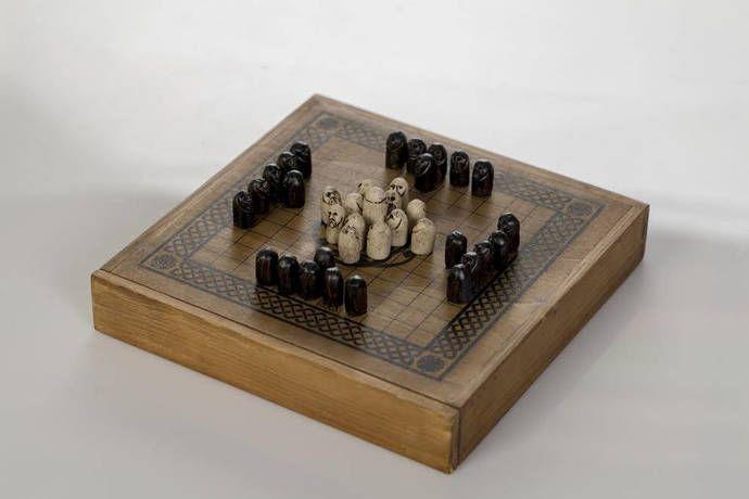 Launch Offer Hnefatafl Viking Chess Handmade In Wood Classic Dark Wood By Buxaina 39 90 Eur Hnefatafl Viking Chess Board Games
