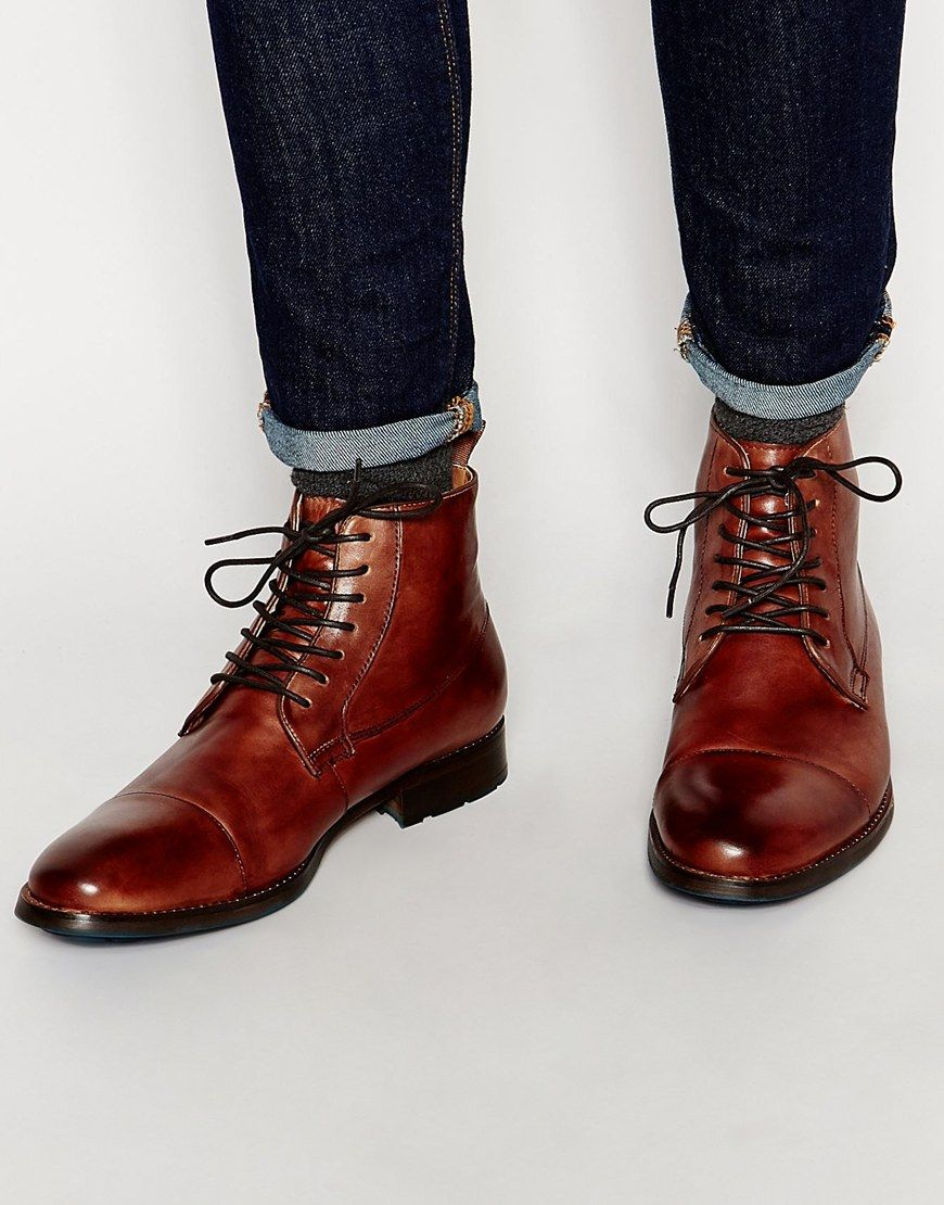 Image 1 of ALDO Asodda Leather Derby Boot  2f861f3aaba4b