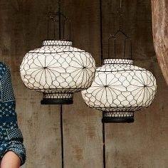 Asian Wire Lanterns Cool Lighting Lighting Inspiration