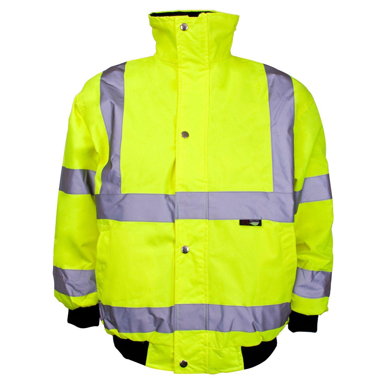 Kids Junior Hi Vis Waterproof Bomber Jacket High Viz Visibility Safety Kids Bomber Jacket Boys Bomber Jacket Boys Jacket