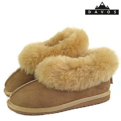 Luxury Women Wool Slippers Handmade of 100/% Sheepskin wool and Leather