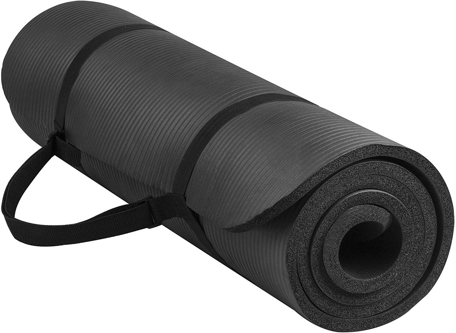 Balancefrom Goyoga All Purpose 1 2 Inch Extra Thick High Density Anti Tear Exercise Yoga Mat With Carrying Strap In 2020 Mat Exercises Yoga Fitness Yoga Mat