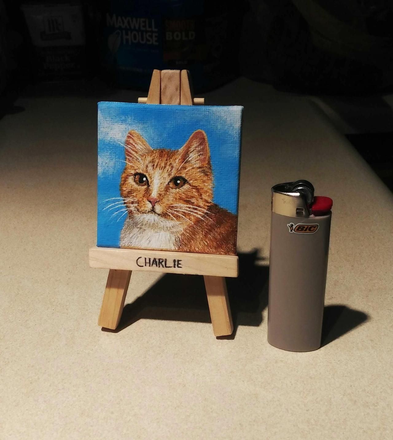 I painted a small Charlie today! by town_tart cats kitten catsonweb cute adorable funny sleepy animals nature kitty cutie ca