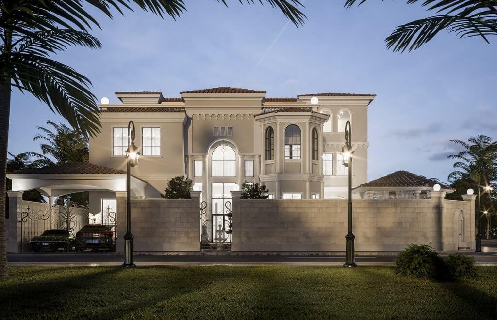 Mediterranean Arabic House Design Home Exterior In Riyadh Saudi Arabia Cas Best Modern House Design Classic House Exterior House Exterior