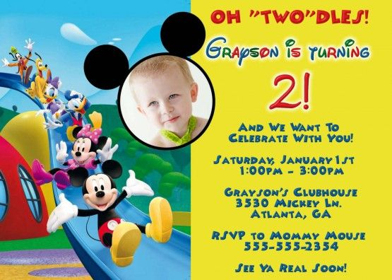 Mickey Mouse Clubhouse Invitation Template Free Download Party - mickey mouse invitation template
