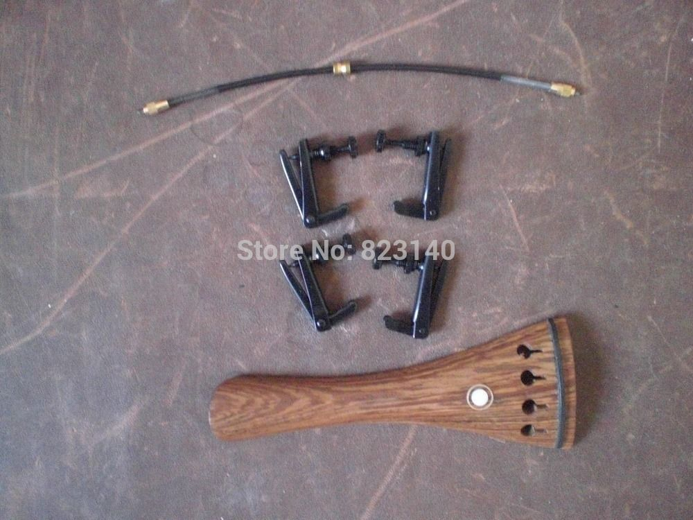 1 PC Wenge wood Tail piece with 4 PCs Full Black Fine