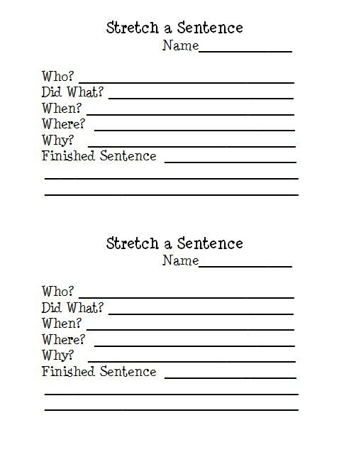 stretch a sentence free writing worksheet download avid activities pinterest writing. Black Bedroom Furniture Sets. Home Design Ideas