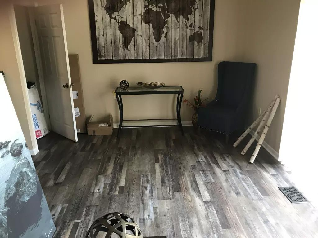 A perfect blend of cosmopolitan charisma rustic style for Coreluxe engineered vinyl plank installation
