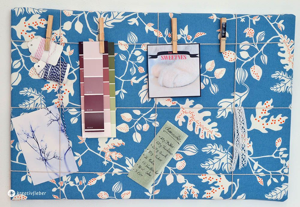 Memoboard und pinnwand selbermachen einfaches deko diy tutotrial diy pinterest - Pinnwand selber machen stoff ...