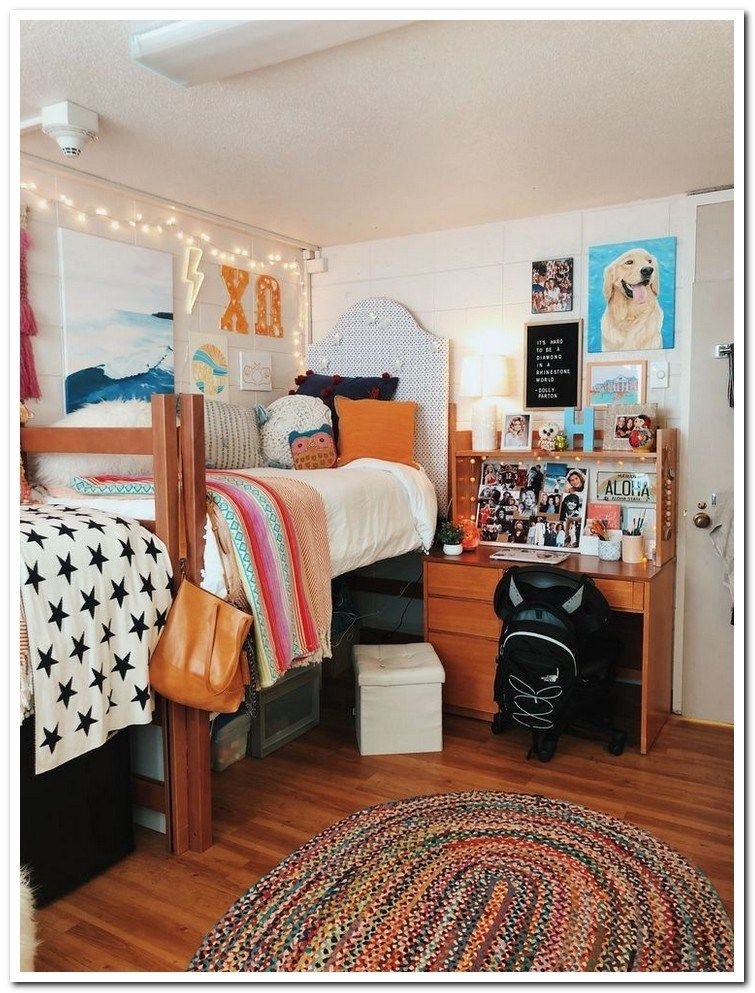43 awesome college bedroom decor ideas and remodel 32 #collegedormroomideas