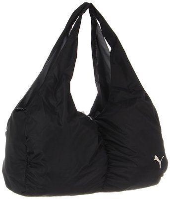 3f57a94f76 Puma PMAM1012 Black Training Shine Yoga Shoulder Tote Sports Athletic Gym  Bag