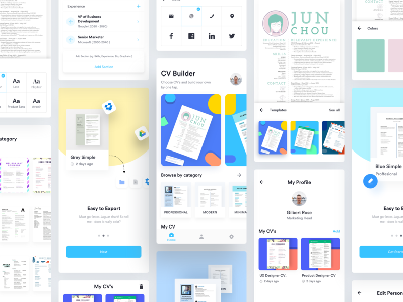 Ezy Cv Builder App App App Design Cover Letter For Resume