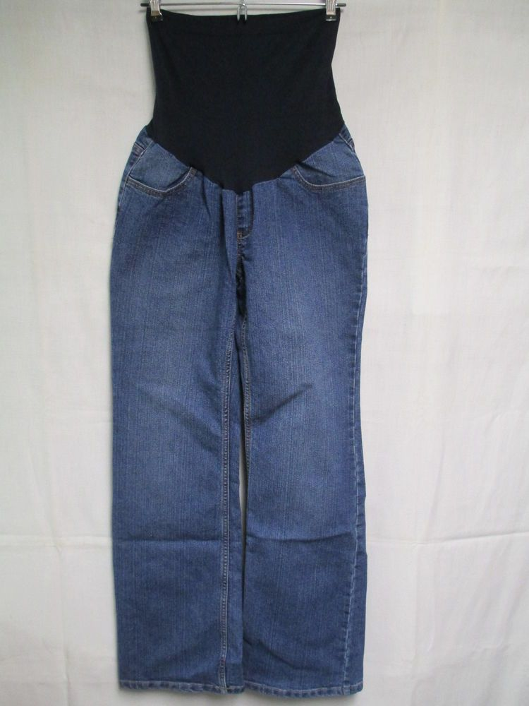 1eb90e8ee4 Motherhood Maternity Denim Blue Jeans Stretch Top Size Small Inseam 31