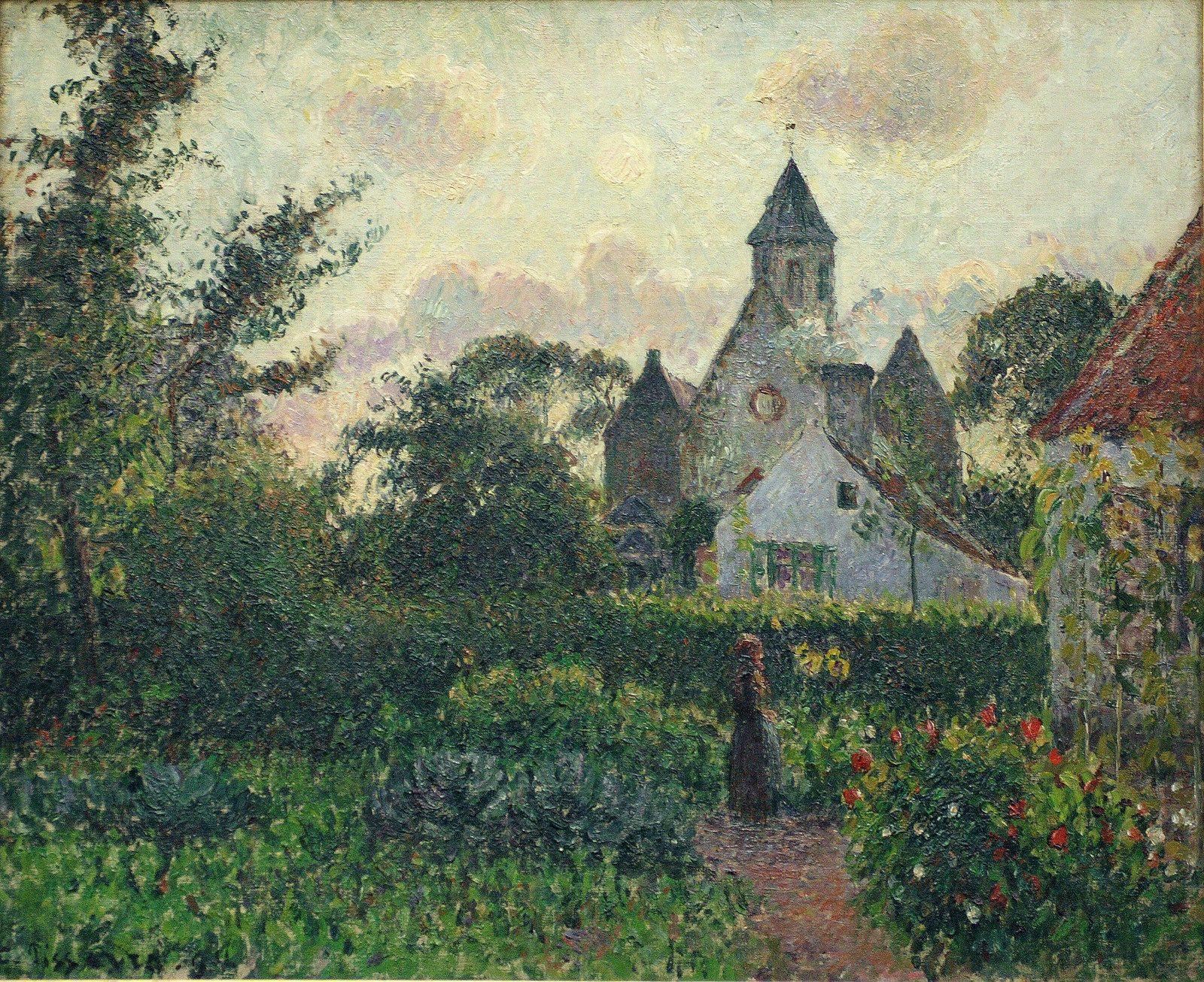 The Church at Knocke, 1894. Camille Pissarro