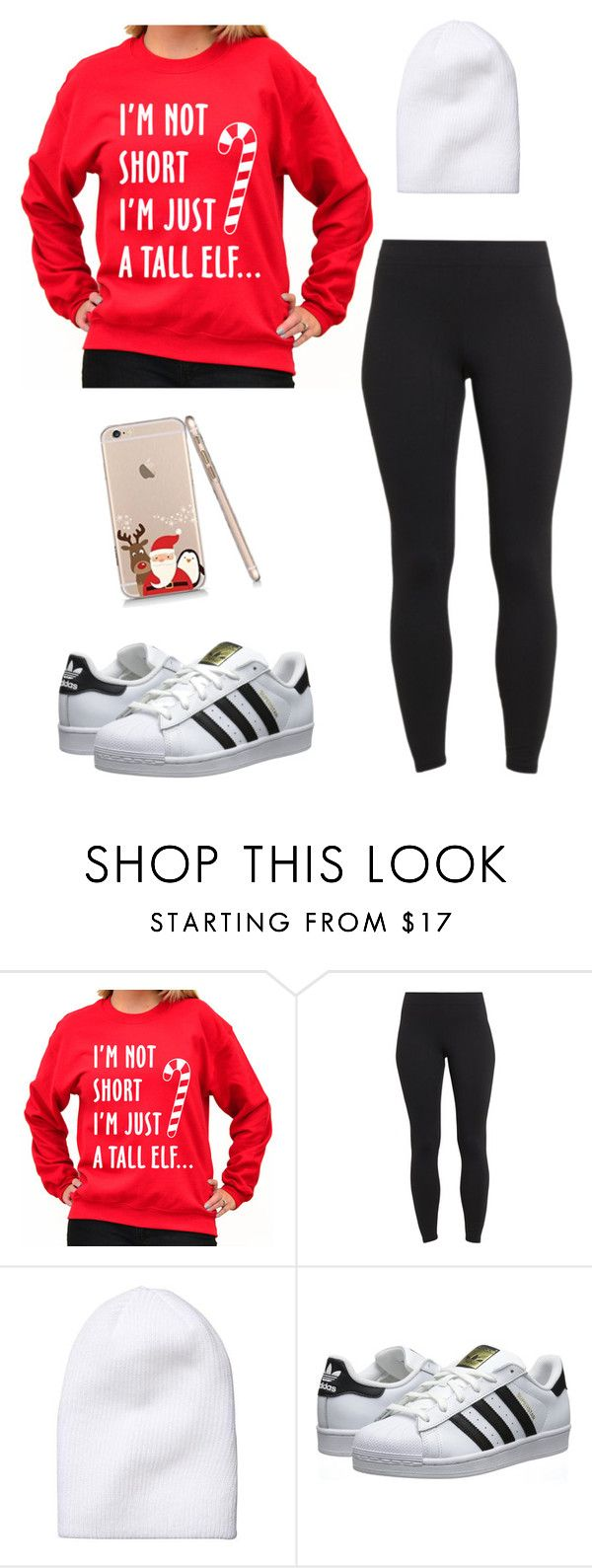 """Ugly Christmas Sweater"" by music-lover16 on Polyvore featuring SignatureTshirts, Maidenform, Athleta, adidas Originals and uglychristmassweater"