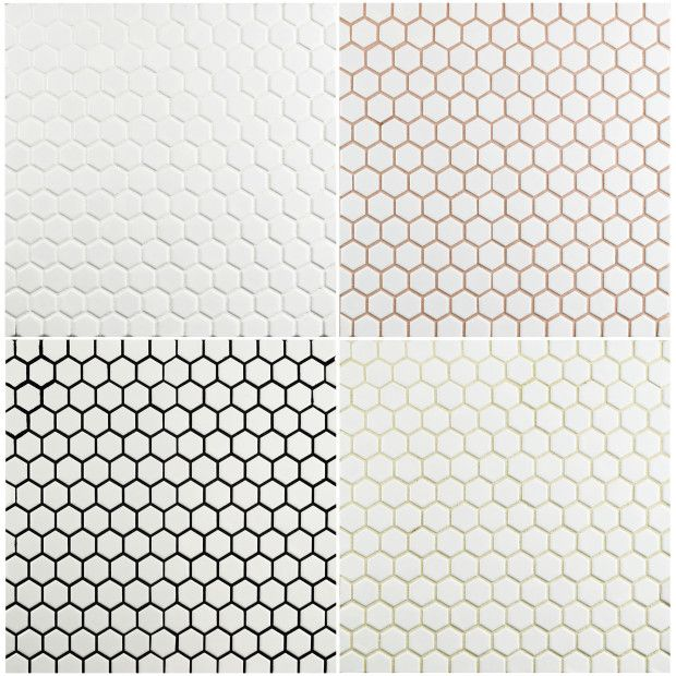 Be All About Grout Penny Tile White Bathroom Tiles