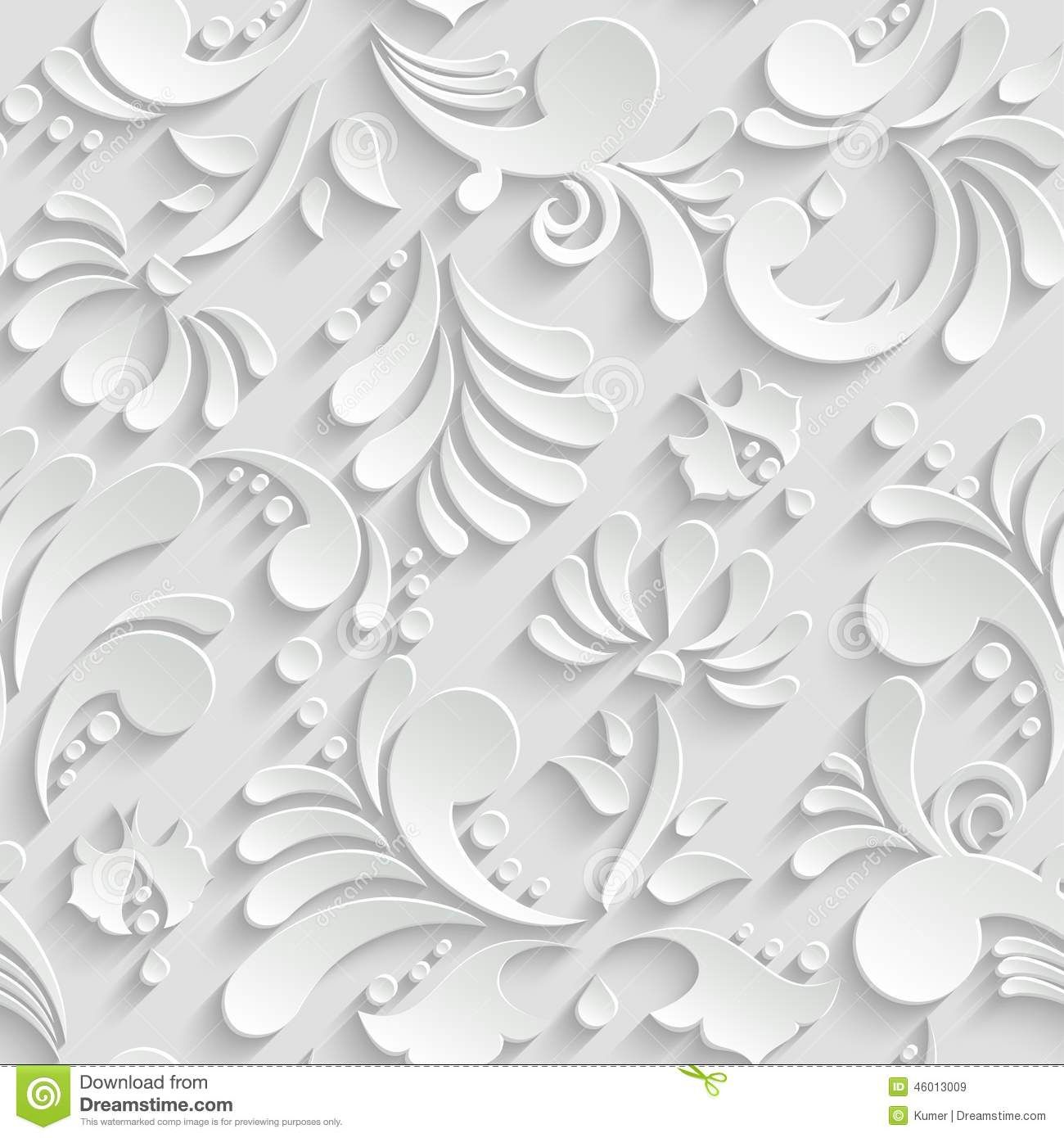 Abstract Floral 3d Seamless Pattern Floral, Sobres de