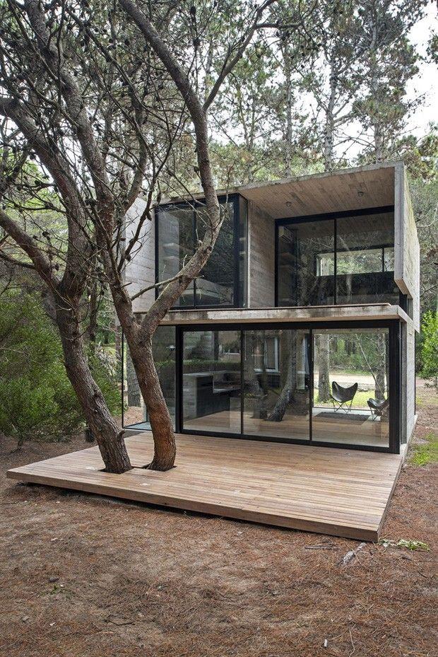 H3 House, maison de vacances en béton par Luciano Kruk - realiser un plan de maison