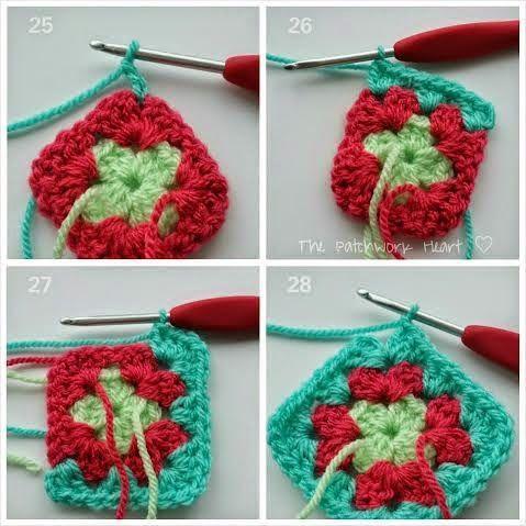 El Corazón del remiendo: Abuelita Plaza Tutorial | Crochet ...