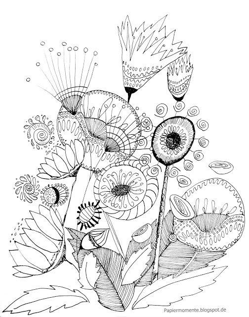 Ausmalbild Frühling | Kolorowanki, szkice, ornamenty, ilustracje ...