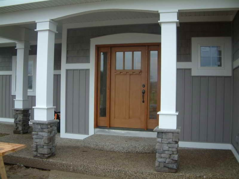 Personable Front Porch Columns With Good Combination Porch Column