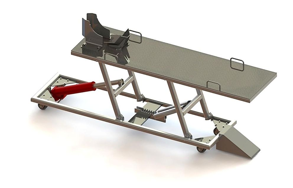 The Bike Lift Embly Tutorial Provides You A Step By Guide To Building Our Motorcycle Table From Plans