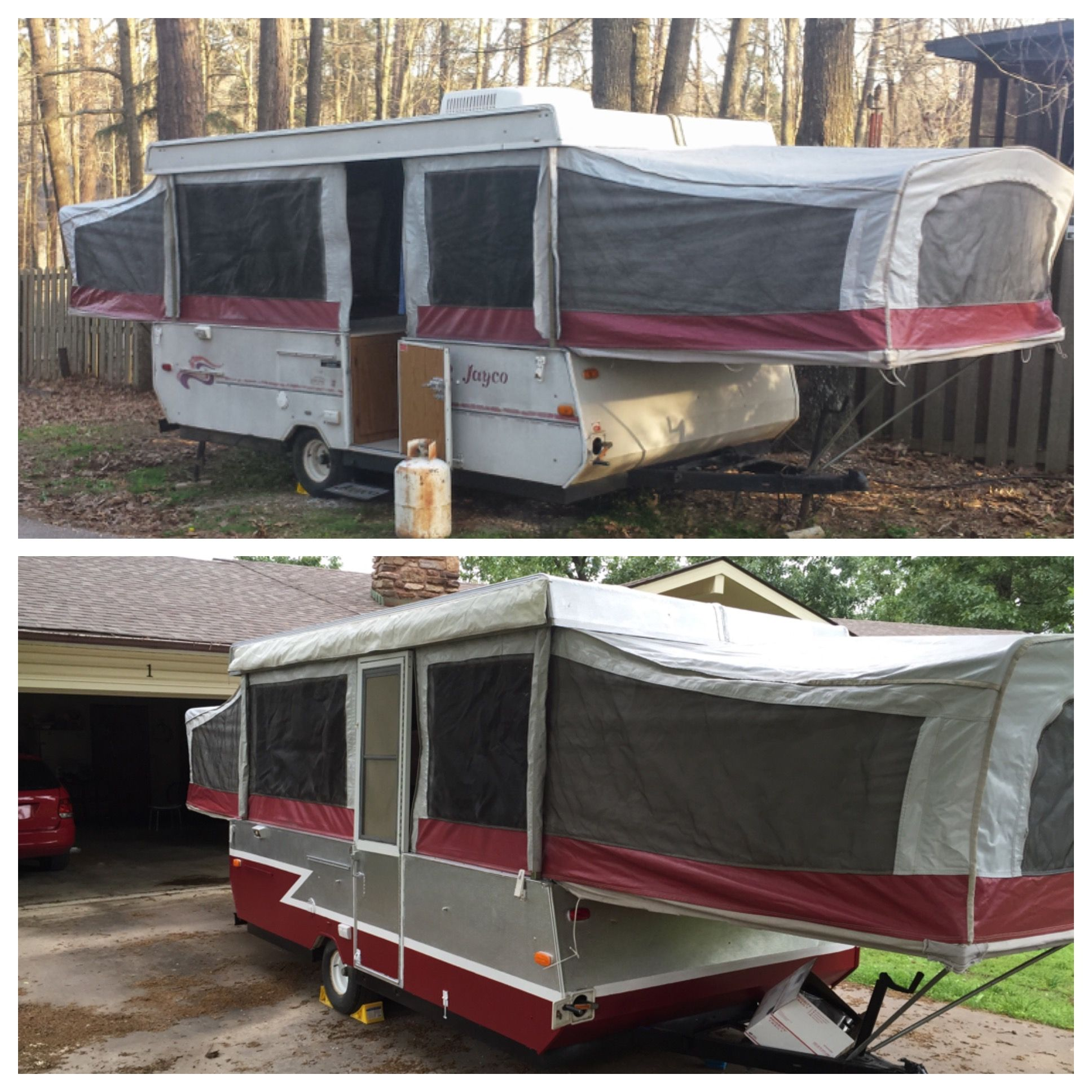 Before And After 1995 Jayco Eagle 12 Udk Pop Up Camper Trailer