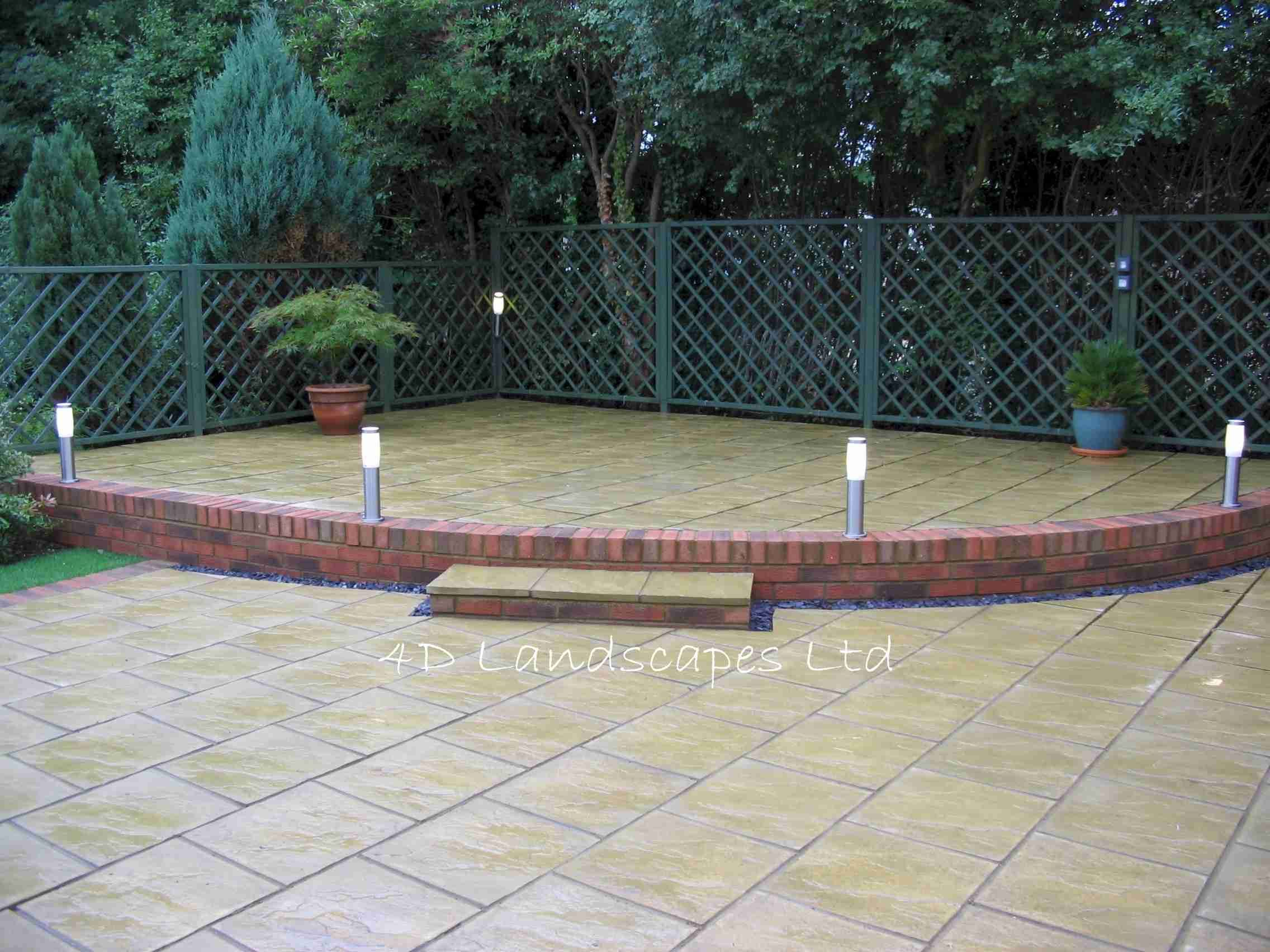 Patio ideas sample garden designs landscaping and for Back garden designs uk