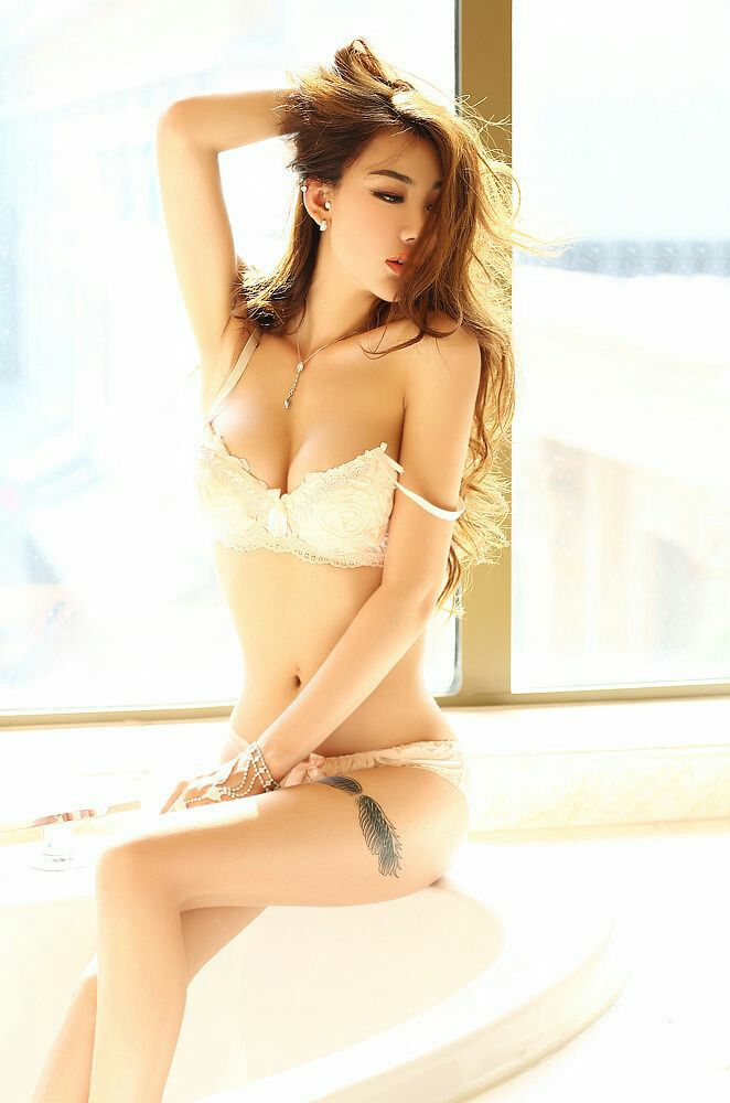 Sheer lingerie asian