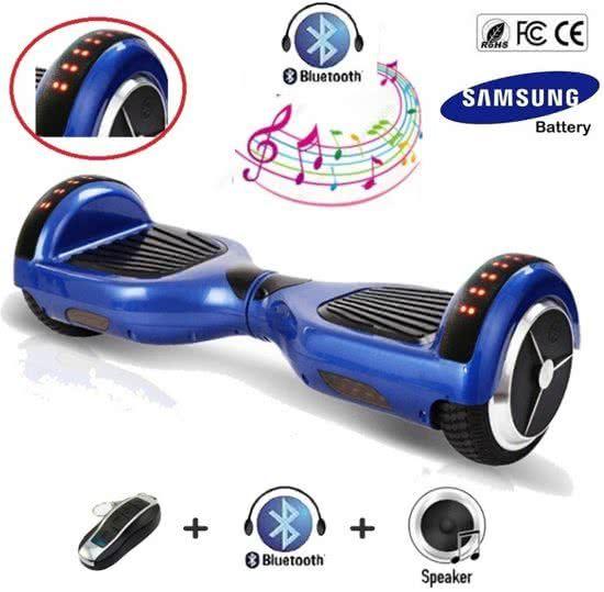 Hoverboard 6.5 Inch, Blauw, Samsung accu, Bluetooth, full body LED ...