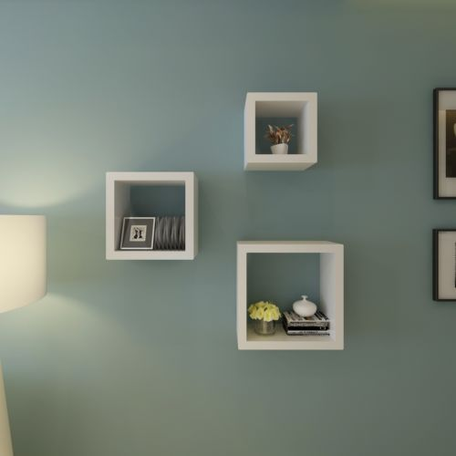Set-de-3-estantes-en-forma-de-cubo-blanco-Diseno-Retro-Cubo-De-Pared- Estanteria 2150b7e97963