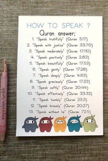 Quranic guidelines on how to speak
