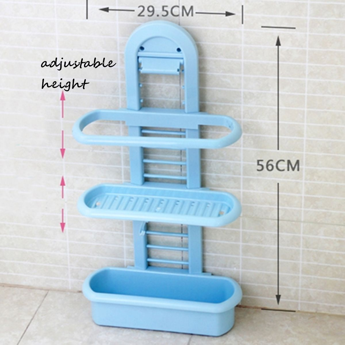 Honana BS-415 Bathroom Shower Caddy Plastic Organizer Shelves ...